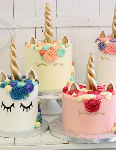 Unicorn cake group shot
