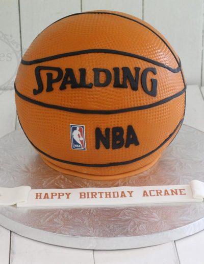 3D basketball cake