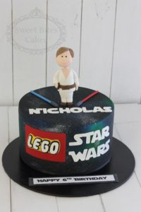 1 tier lego starwars cake