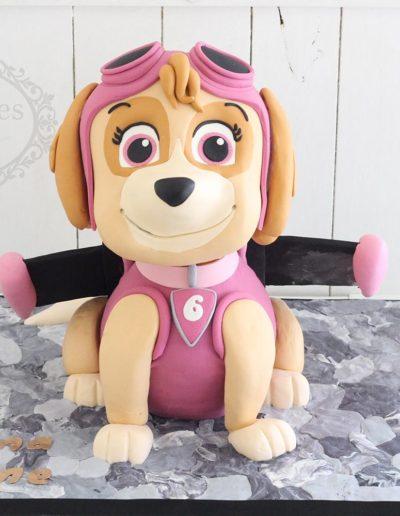 3D paw patrol dog cake