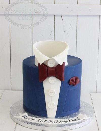 3D suit jacket cake with bowtie
