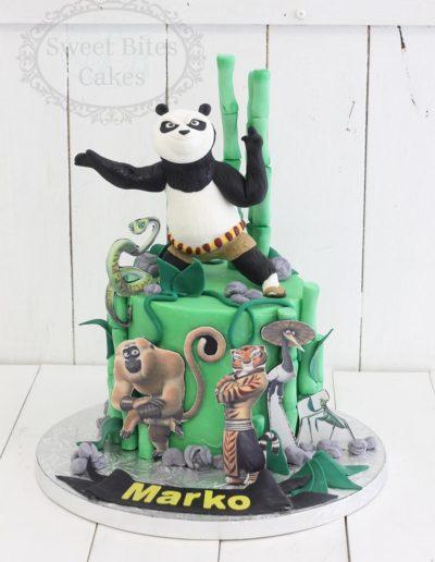 1 tier Kung Fu Panda cake