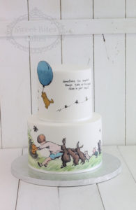 2 tier hand painted winnie the pooh cake