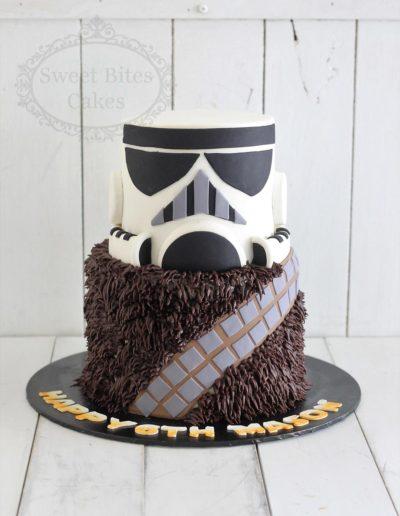 3D star wars themed cake