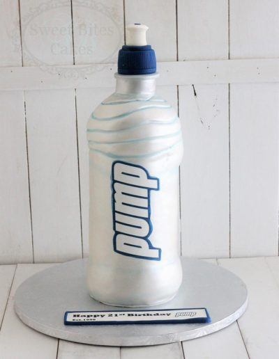 3D water bottle cake
