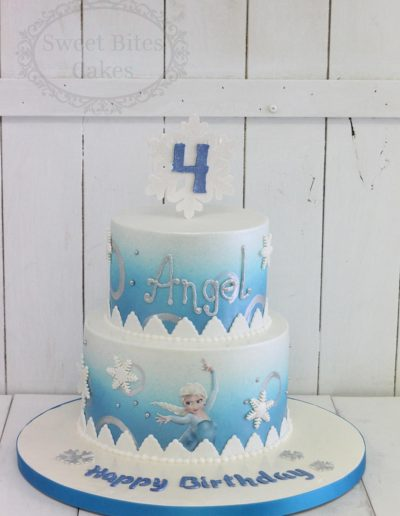 2 tier Frozen themed cake