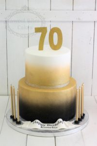 Gold ombre cake