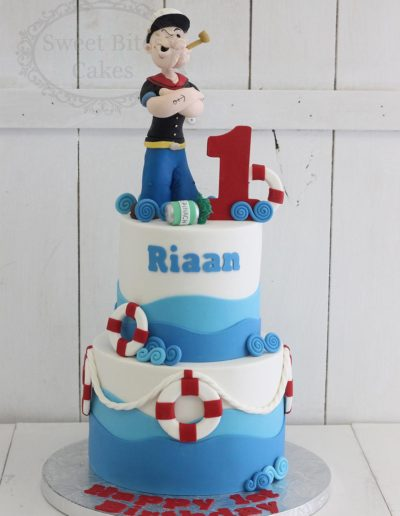 2 tier Popeye themed cake