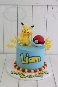 1 tier Pikachu pokemon cake