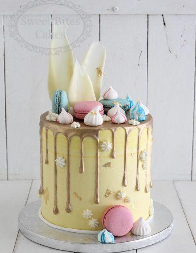 Yellow drip cake