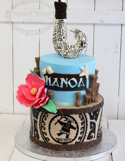 2 tier Moana maui hook cake