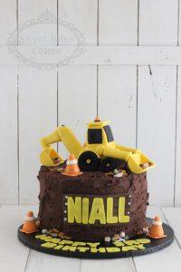 Digger and buttercream dirt cake