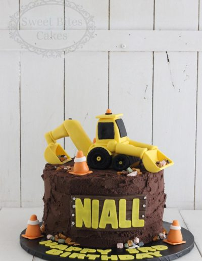 Digger and buttercream dirt cake