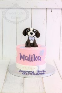 Puppy baby pink cake