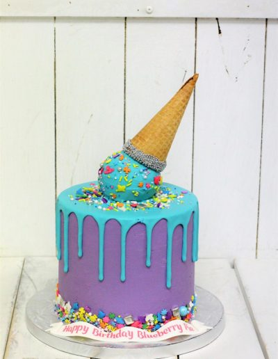 Blue ice cream cake