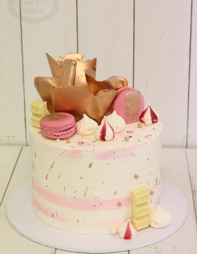 Candy and rose gold cake