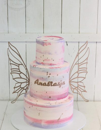 Butterfly wings cake 3 tiers