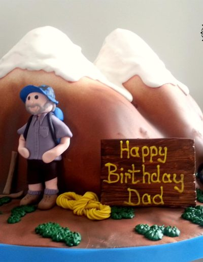 Mountain scene 3D cake