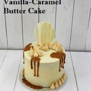 Vanilla Caramel Butter Cake 8 inch