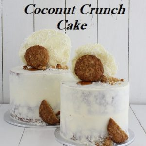 Coconut Crunch Cake 6 inch