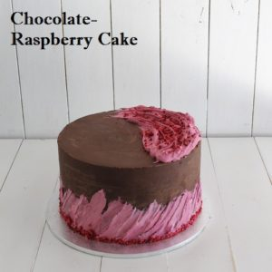 Chocolate Raspberry Butter Cake 8 inch