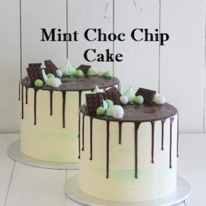 Mint Choc Chip Cake 7 inch