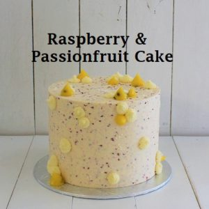 Raspberry & Passonfruit Cake 7 inch