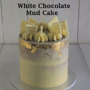White Chocolate Mud Cake 5 inch