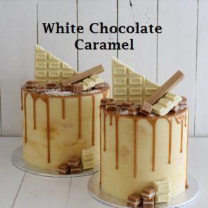 White Chocolate Caramel Cake 7 inch