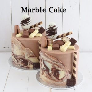 Marble 7 inch Cake