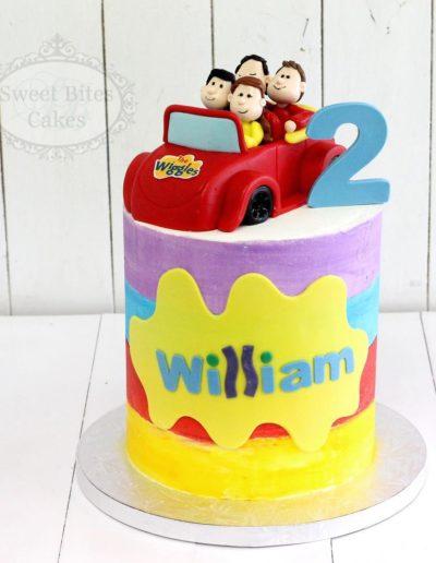 Crayon Stripe Wiggles Cake