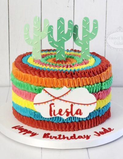 Colourful Fiesta Themed Birthday Cake