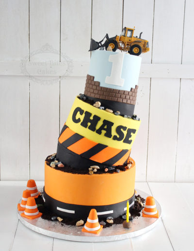Topsy Turvy 3 Tier Construction Cake