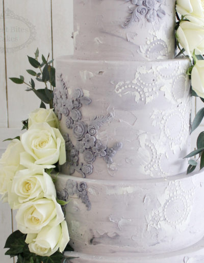 Textured Industrial Wedding Cake