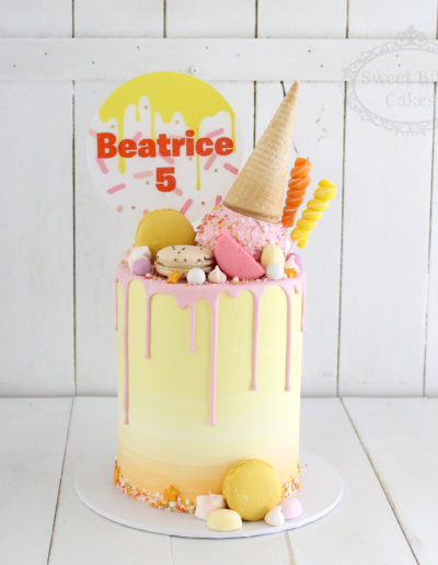 Summer Ice Cream Themed Cake