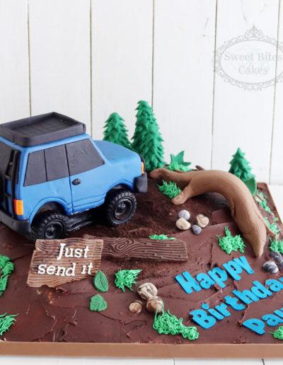 3D 4WD Car Cake