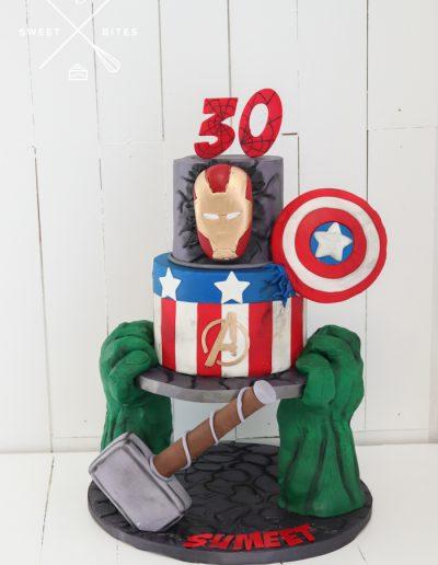 marvel avengers iron man captain america hulk thor cake