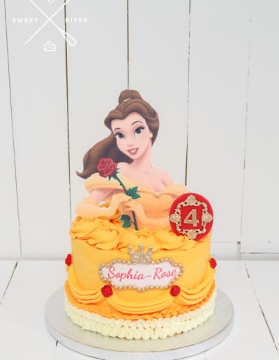 belle disney princess cake beauty and the beast
