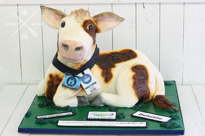 3d cow calf fonterra farm cake