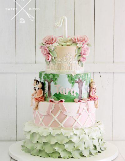 1st birthday fairy land cake