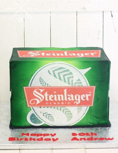3d steinlager beer box case cake
