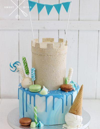 sand castle sea ocean beach cake ice cream