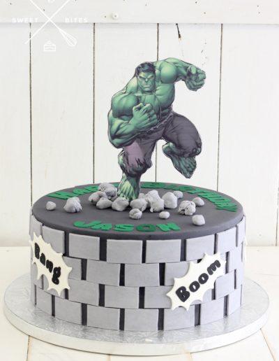 hulk smash cake marvel avengers