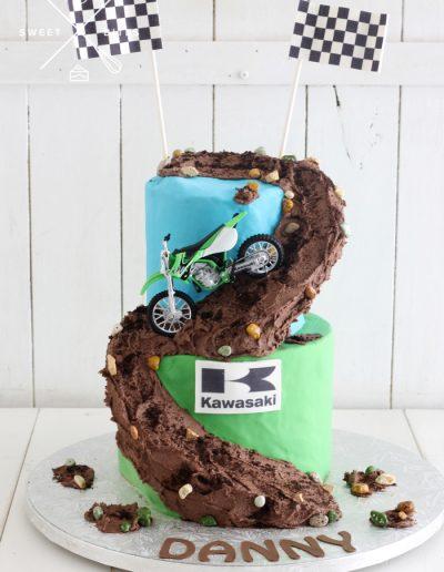 motorcross motorbike offroad kawasaki cake