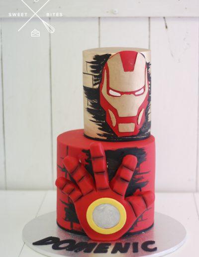 iron man marvel cake 2 tier