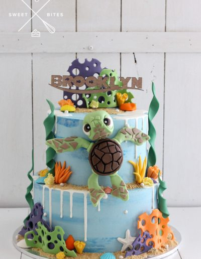 squirt turtle finding nemo cake