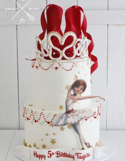 felicie ballerina movie cake tiara ballet 5th birthday