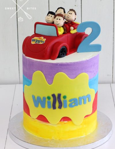 the wiggles cake big red car 2nd birthday