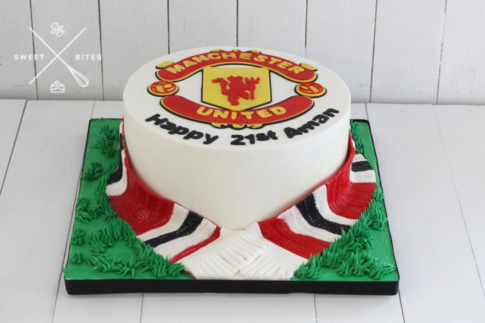football soccer manchester united 21st birthday cake