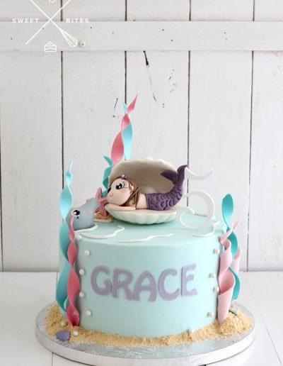 mermaid sea cake dolphin